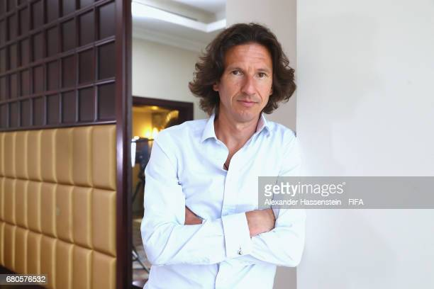 Legend Alexey Smertin of Russia poses after a interview at The Diplomat Radisson BLU Hotel on May 9, 2017 in Manama, Bahrain.