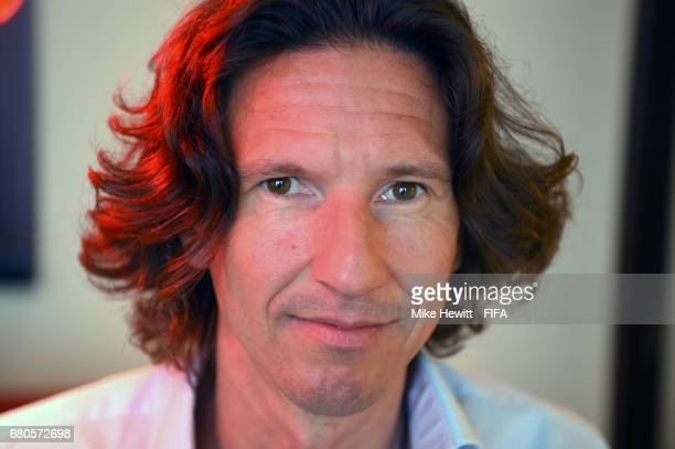 Legend Alexey Smertin poses for a portrait in the Diplomat Radisson BLU hotel, ahead of the 67th FIFA Congress, on May 9, 2017 in Manama, Bahrain.