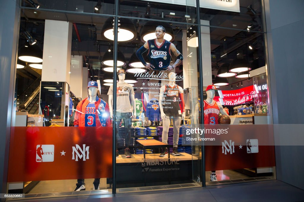 check out ef558 86654 Legend, Allen Iverson visits the new Mitchell and Ness ...