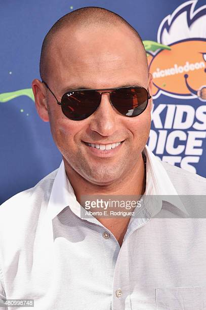 Legend Award recipient Derek Jeter attends the Nickelodeon Kids' Choice Sports Awards 2015 at UCLA's Pauley Pavilion on July 16 2015 in Westwood...