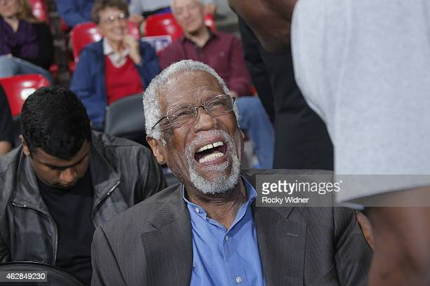 NBA legend Bill Russell attends the Dallas Mavericks game against the Sacramento Kings on February 5 2015 at Sleep Train Arena in Sacramento...