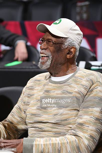 NBA legend Bill Russell during the Taco Bell Skills Challenge as part of NBA AllStar 2016 on February 13 2016 at Air Canada Centre in Toronto Ontario...