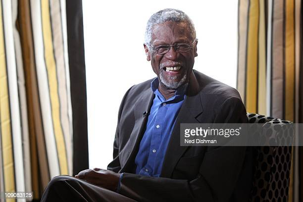 Legend Bill Russell is interviewed by television personality John King prior to Bill Russell's acceptance of the Presidential Medal of Freedom award...