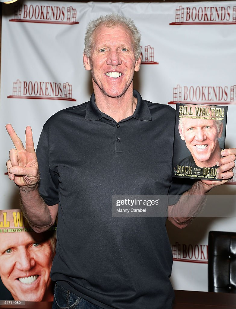 Legend Bill Walton signs copies of his book 'Back From The Dead' at Bookends on March 23, 2016 in Ridgewood, New Jersey.