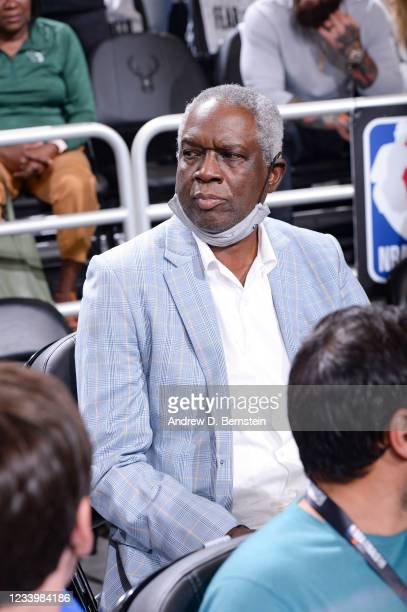 Legend, Bob Dandridge attends a game between the Phoenix Suns and Milwaukee Bucks during Game Four of the 2021 NBA Finals on July 14, 2021 at the...