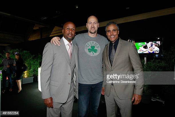 Legend Brian Shaw former players Dino Radja and Rick Fox attend the Pre Game Reception as part of the 2015 Global Games on October 6 2015 at the...