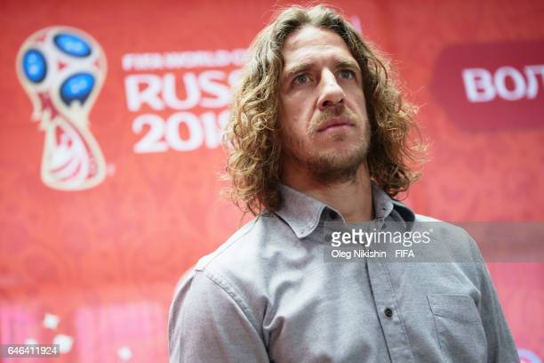 Legend Carles Puyol visits FIFA Confederations Cup 2017 and 2018 FIFA World Cup Russia volunteers center in Moscow and takes part in exhibition...