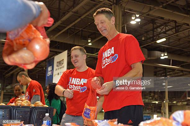 Legend Detlef Schrempf participates during NBA Cares AllStar Day of Service as part of 2016 AllStar Weekend at NBA Centre Court of the Enercare...