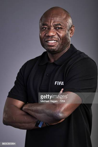 FIFA Legend Emmanuel Emenike poses prior to The Best FIFA Football Awards at The May Fair Hotel on October 22 2017 in London England
