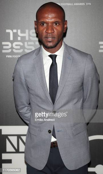 Legend Eric Abidal attends the green carpet prior to The Best FIFA Football Awards 2019 at the Teatro alla Scala on September 23 2019 in Milan Italy
