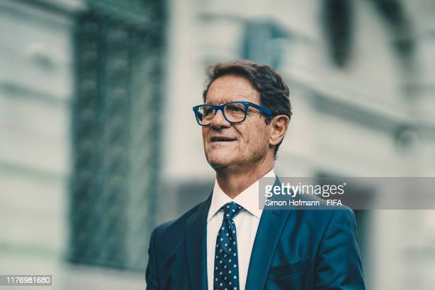 Legend Fabio Capello of Italy arrives on the green carpet ahead of The Best FIFA Football Awards 2019 at Teatro alla Scala on September 23, 2019 in...