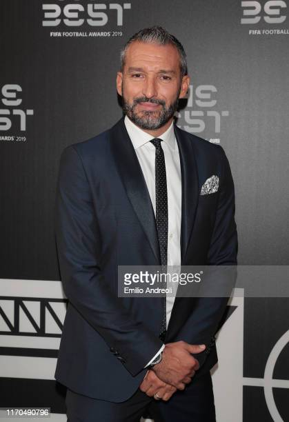 Legend Gianluca Zambrotta attends the green carpet prior to The Best FIFA Football Awards 2019 at the Teatro Alla Scala on September 23, 2019 in...
