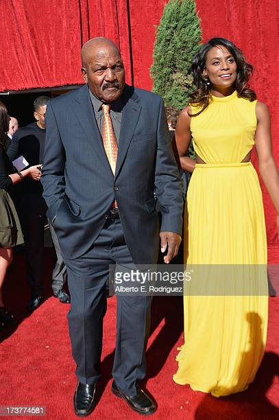 NFL legend Jim Brown and wife Monique Brown attend The 2013 ESPY Awards at Nokia Theatre LA Live on July 17 2013 in Los Angeles California