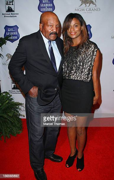 Legend Jim Brown and wife Monique Brown attend the inaugural Tony LaRussa Leaders and Legends Gala benefiting Tony La Russa's Animal Rescue...