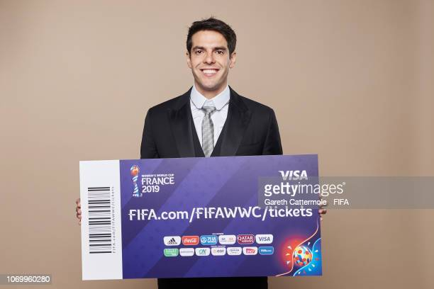 FIFA legend Kaka poses for a portrait during the FIFA Women's World Cup France 2019 Draw at La Seine Musicale on December 8 2018 in Paris France