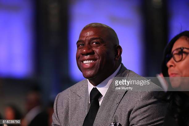 Legend Magic Johnson attends the NBA Legends Brunch as part of NBA AllStar 2016 on February 14 2016 in Toronto Ontario Canada NOTE TO USER User...
