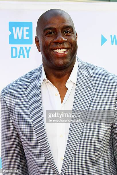 Legend Magic Johnson attends WE Day Toronto at the Air Canada Centre on October 1 2015 in Toronto Canada