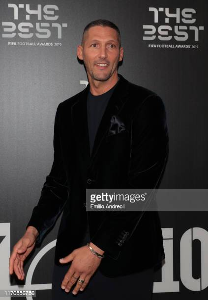 Legend Marco Materazzi attends the green carpet prior to The Best FIFA Football Awards 2019 at the Teatro alla Scala on September 23, 2019 in Milan,...