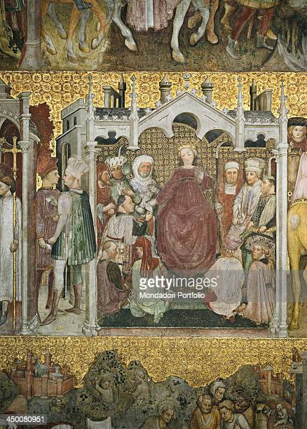 The Lombard diet enables Theodolinda to get married again Scene 24 by Zavattari 1440 1450 15th Century fresco