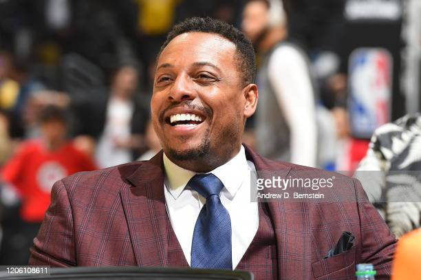 Legend Paul Pierce attends the game between the LA Clippers and the Los Angeles Lakers on March 8, 2020 at STAPLES Center in Los Angeles, California....