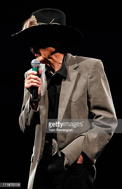 NASCAR legend Richard Petty accepts the Bruton Smith Legacy Award during the 2011 Texas Motorsports Hall of Fame Banquet at Texas Motor Speedway on...