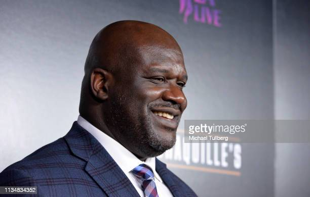 NBA legend Shaquille O'Neal attends the grand opening of Shaquille's At LA Live at LA Live on March 09 2019 in Los Angeles California