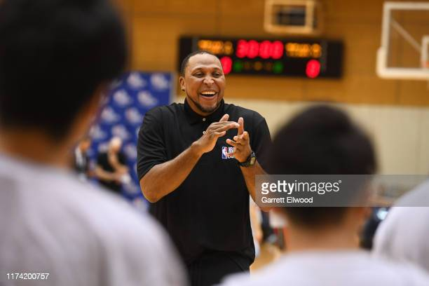 Legend Shawn Marion during the NBA Cares Special Olympics Unified Clinic part of the 2019 NBA Japan Games at a training facility on October 7 2019 in...