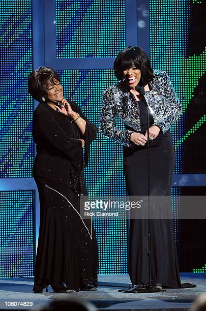 Legend Shirley Ceasar and Recording Artist Vickie Winans present the Albertina Walker Female Vocalist of the Year at the 26th Annual Stellar Gospel...