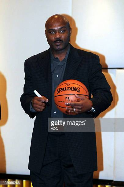 NBA Legend Tim Hardaway attends 'Love You You' press conference on September 21 2011 in Shanghai China