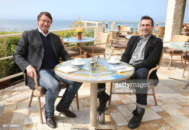 Legend Wayne Gretzky and Jon Hamm talk hockey for a special 2018 Stanley Cup Playoffs program on May 10 2018 in Malibu California