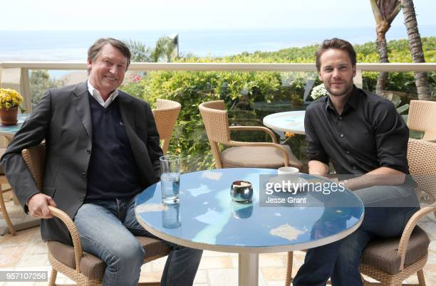 Legend Wayne Gretzky and Taylor Kitsch talk hockey for a special 2018 Stanley Cup Playoffs program on May 10 2018 in Malibu California