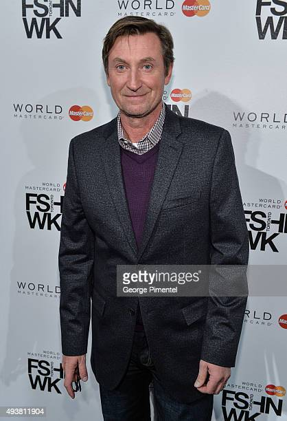 Legend Wayne Gretzky attends the No 99 Wayne Gretzky 2016 Spring Collection presentation during World MasterCard Fashion Week Spring 2016 at David...