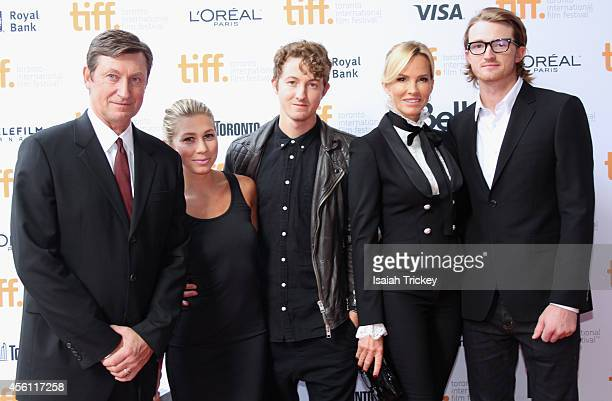 NHL Legend Wayne Gretzky Sara Cuse Ty Gretzky actor Janet Jones and Trevor Gretzky arrive at the 'Red Army' Premiere during the 2014 Toronto...