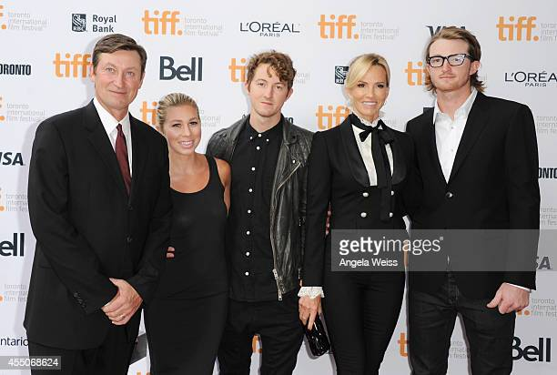 Legend Wayne Gretzky Sara Cuse Ty Gretzky actress Janet Jones and Trevor Gretzky attend the Red Army premiere during the 2014 Toronto International...