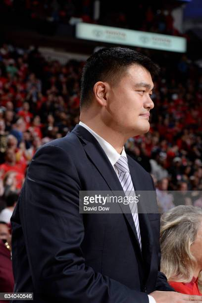 Legend Yao Ming attends the Chicago Bulls game against the Houston Rockets on February 3 2017 at the Toyota Center in Houston Texas NOTE TO USER User...
