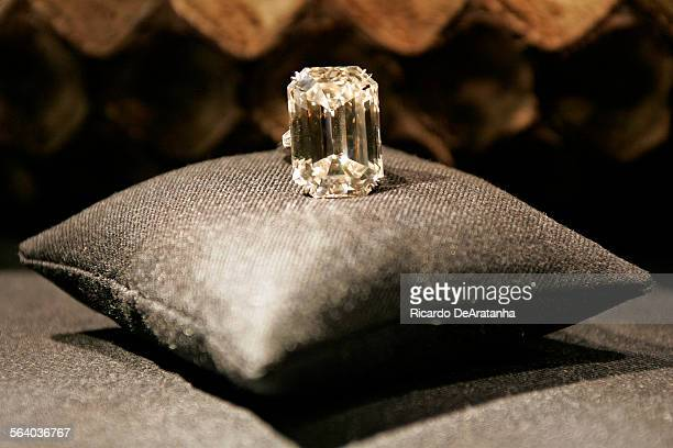Legendary 7173 carats Lesotho diamond on display at the opening party of Harry Winston America's premier fine jeweler new 6000 square foot Beverly...