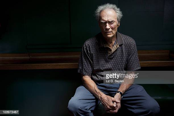 Legendary actor and director Clint Eastwood poses for a portrait session on August 27 at the Mission Ranch Hotel in Carmel CA Published Image CREDIT...