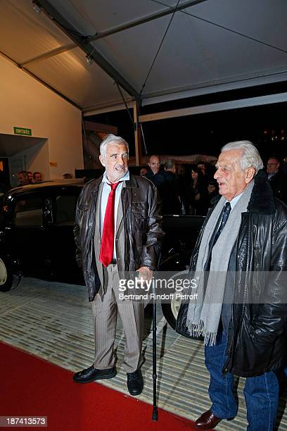 Legendary actor JeanPaul Belmondo and his brother Alain Belmondo arrive to attend the 100th Anniversary Of The Paris Judiciary Police exhibition...