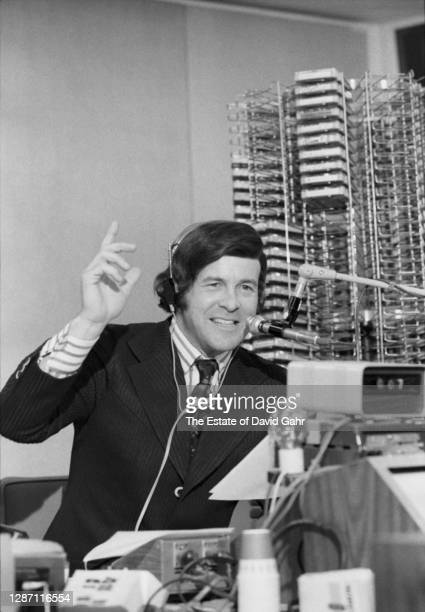 Legendary American radio announcer Bruce Morrow known to radio listeners as 'Cousin Brucie' and 'Cousin Bruce Morrow' poses for a portrait in the...