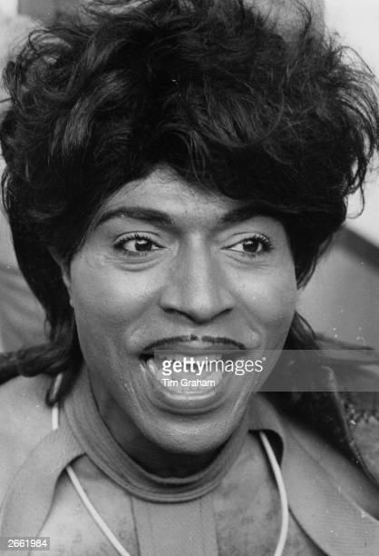 Legendary American rock 'n' roll singer Little Richard at Wembley in London.