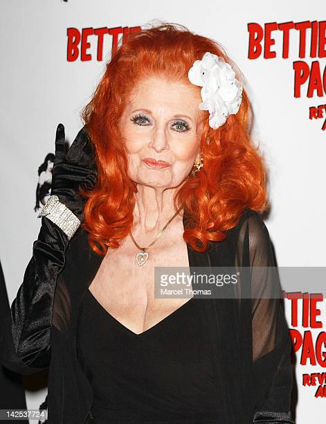 Legendary Burlesque dancer Tempest Storm attends the premiere of Bettie Page Reveals All Documentary Film at Century Orleans 18 Theatre on April 6...