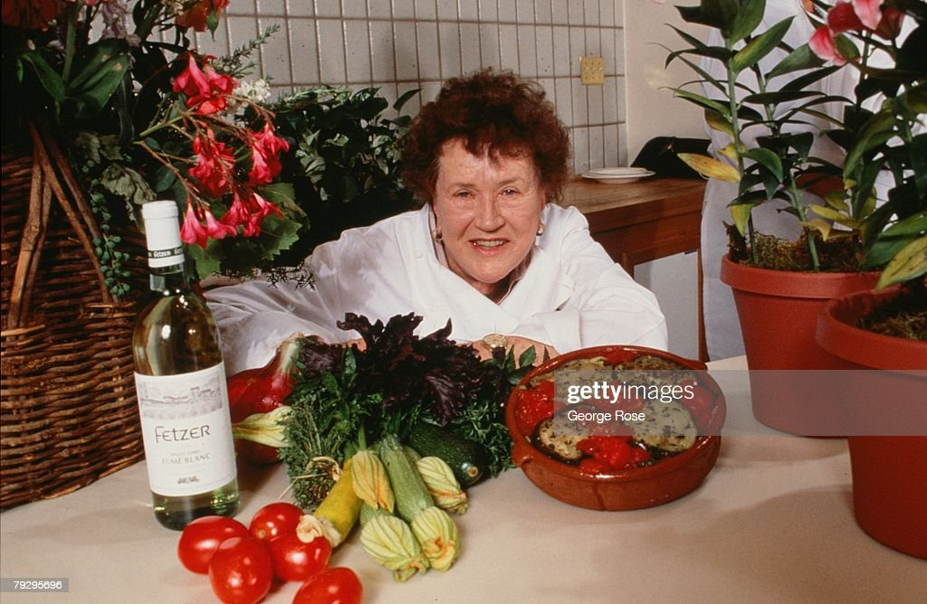 Legendary chef, cookbook author and television star, Julia Child, poses during a 1990 Hopland, California, photo portrait session.