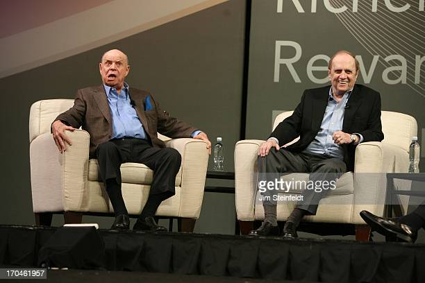 Legendary comedians Don Rickles and Bob Newhart at the Las Vegas Convention Center at the AARP convention in Las Vegas Nevada on May 31 2013