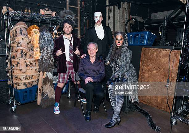 Legendary Composer Andrew Lloyd Webber celebrates 3 shows on Broadway with Leona Lewis Alex Brightman and James Barbour the firstever revival of...