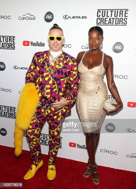 Legendary Damon and Brianna Michelle attend the Culture Creators Innovators & Leaders Awards at The Beverly Hilton on June 26, 2021 in Beverly Hills,...