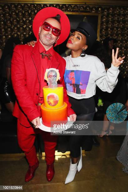 Legendary Damon and Janelle Monae attend as Janelle Monae and Belvedere Vodka celebrate her 'Dirty Computer' tour afterparty at GoldBar on July 18...