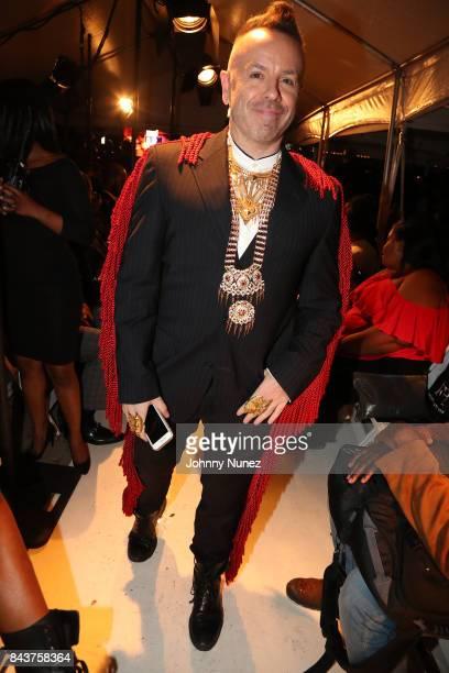 Legendary Damon Attends Harlem's Fashion Row at La Marina Restaurant Bar Beach Lounge on September 6 2017 in New York City