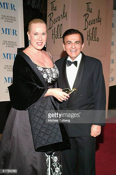 Legendary DJ Casey Kasem arrives with wife Jean at the Museum of Television and Radio's gala tribute to Barbara Walters at the Beverly Hills Hotel...