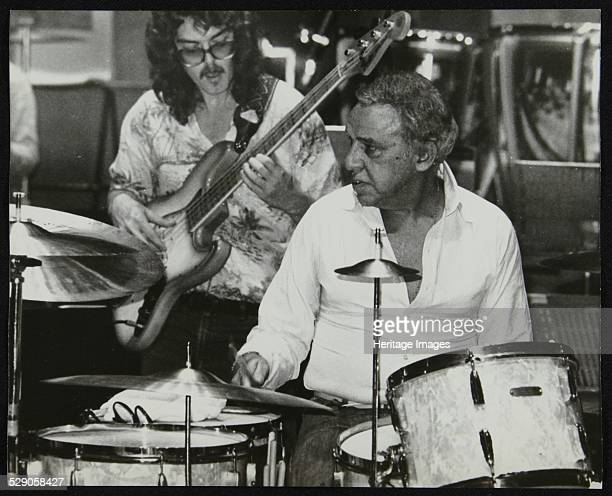 Legendary drummer Buddy Rich and Dave Carpenter performing at the Royal Festival Hall, London, June 1985. Artist: Denis Williams .