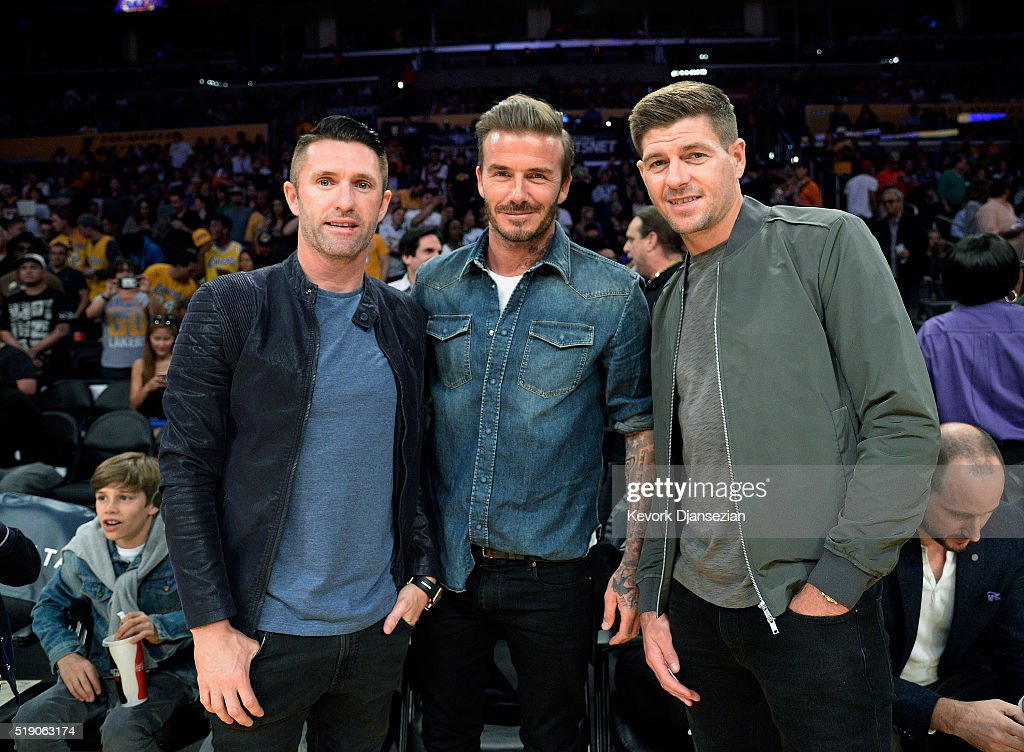 Celebrities At The Los Angeles Lakers Game : ニュース写真